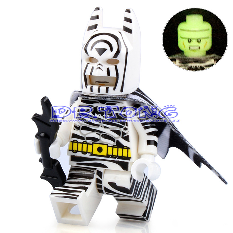 DR.TONG Super Hero The Head Night Light Zebra Batman The Dark Knight Diy Figures Avengers Building Blocks Bricks Kids Toys D004