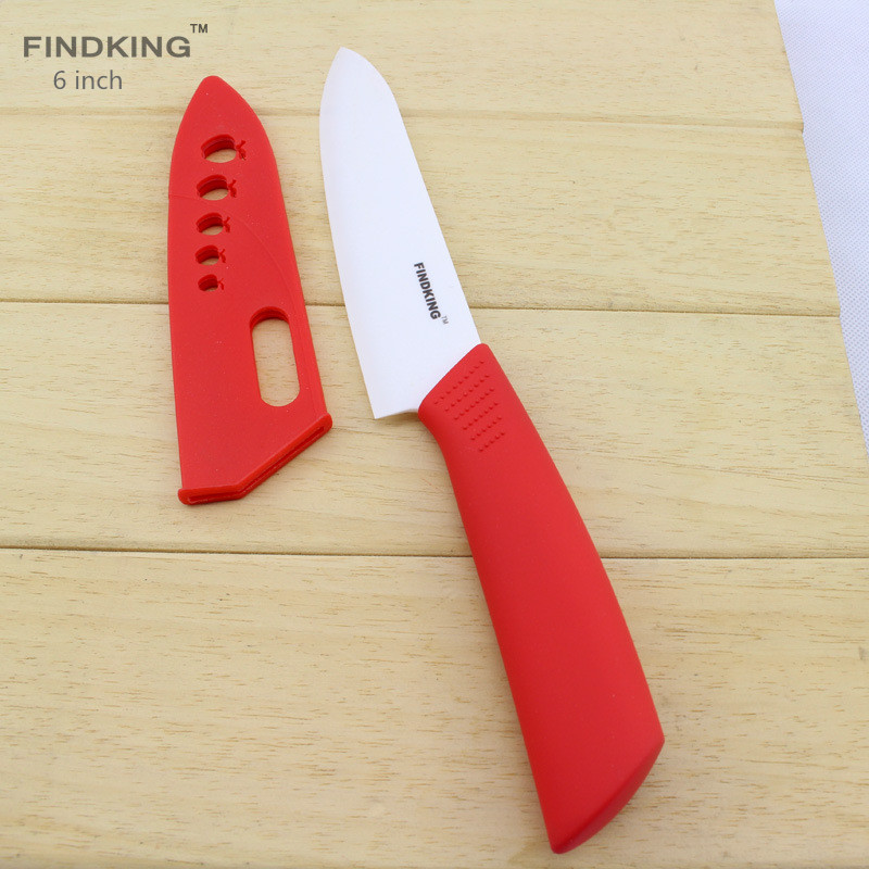 Findking 6 inch Ceramic Paring Knife Vegetable Knives With White Blade
