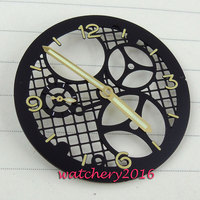 Latest Fashionable 38.9mm three dimensional black Dial Fit 6497 ST 3600 Movement Wrist watch dial + hands