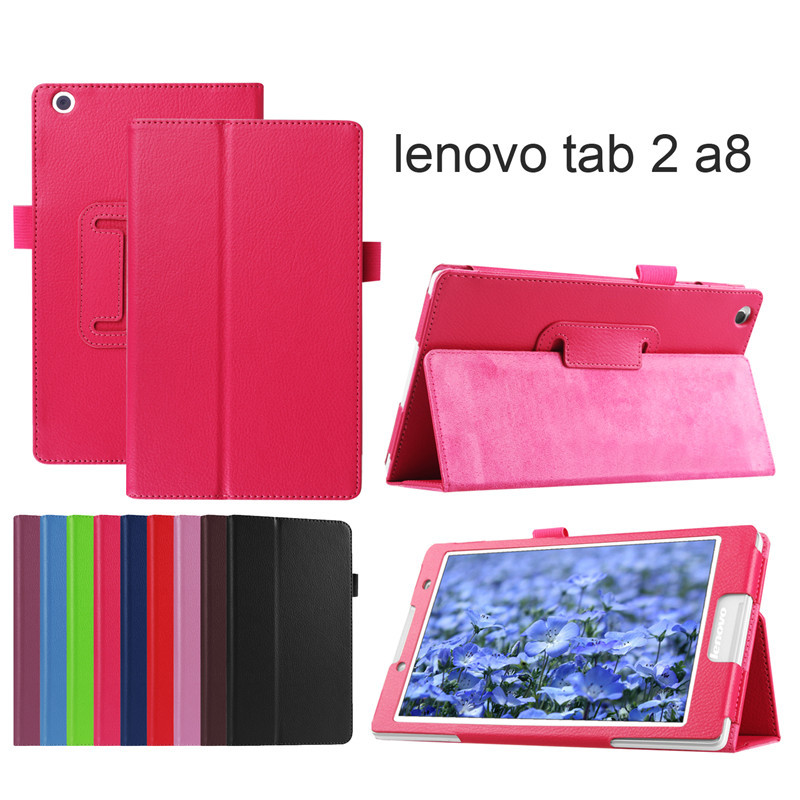 цена на PU Leather cover case for lenovo tab2 A8 PU leather stand protective skin,tablet cover case for lenovo tab 2 A8-50 +fi;m+pen