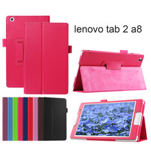 PU Leather cover case for lenovo tab2 A8 PU leather stand protective skin tablet cover case