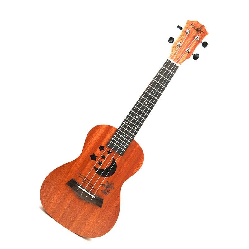 Acoustic Electric Ukulele Guitar 23 Inch 4 Strings Hawaiian Mini Guitar Ukelele sapele Body Star Moon partten with Pickup EQ