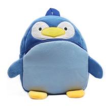 New Lovely blue penguin plush backpack school bag for 1-3years CHILDREN BACKPACK packing candy toy books kid Satchel mochila