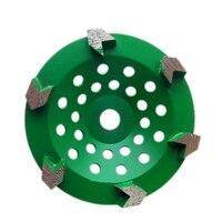 GD34 Diamond Grinding Cup Wheel 5 Inch Floor Grinding Pad with 6 Arrow Segments for Concrete Terrazzo Floor 9PCS
