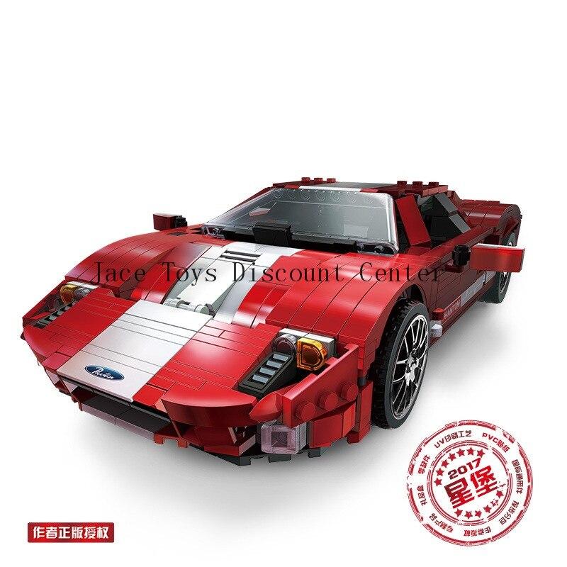 XB 03011 919Pcs Genuine Creative MOC Technic Series The Red Phantom Racing Car Set Building Blocks
