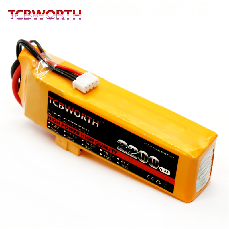 TCBWORTH RC Drone Lipo battery 3S 11.1 V 2200 mAh 35C Max 70C for RC airplane helicopter car Li-ion Batteria AKKU 1s 2s 3s 4s 5s 6s 7s 8s lipo battery balance connector for rc model battery esc