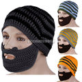2017 Hot Fashion Hat New Unisex Winter Hat for Men and Women Knit Face Warmer Beard Moustache Wool Hat Cap 4 Color Free Shipping