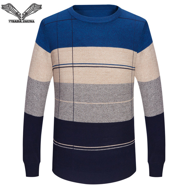 Casual Mens O-neck Slim Fit Knitting Sweaters  1