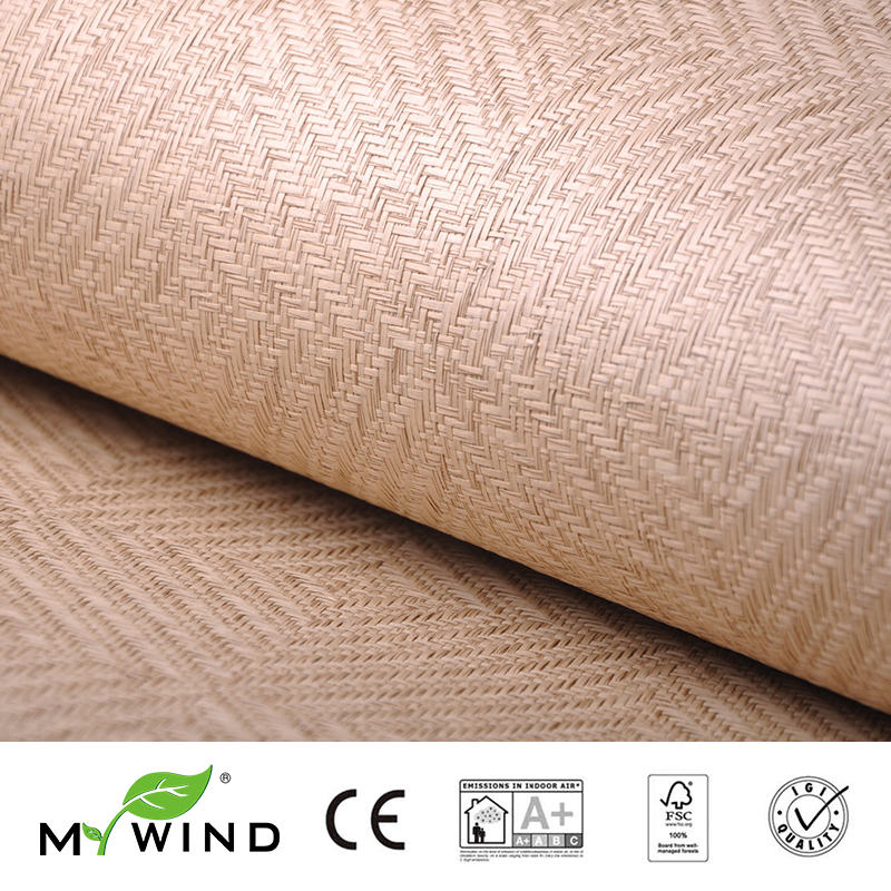 2019 MY WIND Grasscloth Wallpaper Paper Weave 3D Damask Wallpapers Designs Curtains Wholesale Home Decor Sticker Bedroom Bricks