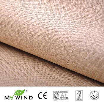 2019 MY WIND Grasscloth Wallpaper Paper weave 3D damask wallpapers designs curtains wholesale home decor sticker bedroom bricks