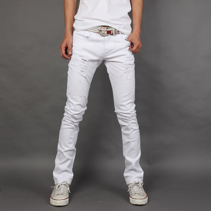 Popular Slim White Jeans for Men-Buy Cheap Slim White Jeans for
