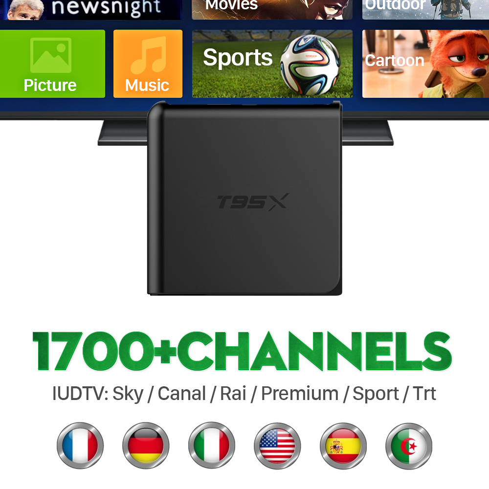 ФОТО Europe IPTV Box Android TV Box IPTV Receiver 1700+French Turkish Netherlands IPTV Channel Better Than MXV Android TV Box