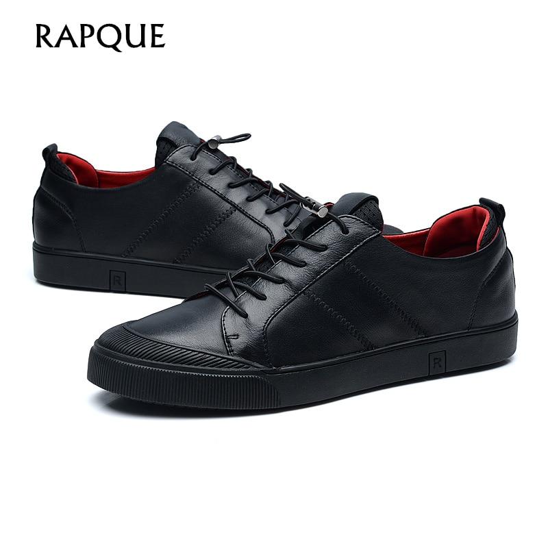 Mens Casual Schuhe Leder echte Kuh Top-Qualität Designer Fashion - Herrenschuhe