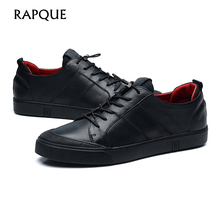 Mens sepatu kasual kulit sapi asli Top kualitas Designer Fashion sepatu Mewah Desain sepatu footware padat hitam 9169 RAPQUE