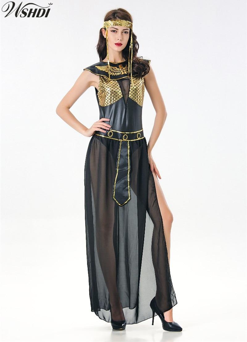 Women/'s Halloween Queen of Egypt CLEOPATRA Egyptian Goddess Adult Costume