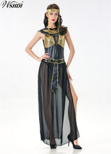 Women's Egyptian Goddess Costume Adult Cleopatra Egypt Cosplay Costume for Halloween Egypt Queen Dress(China)