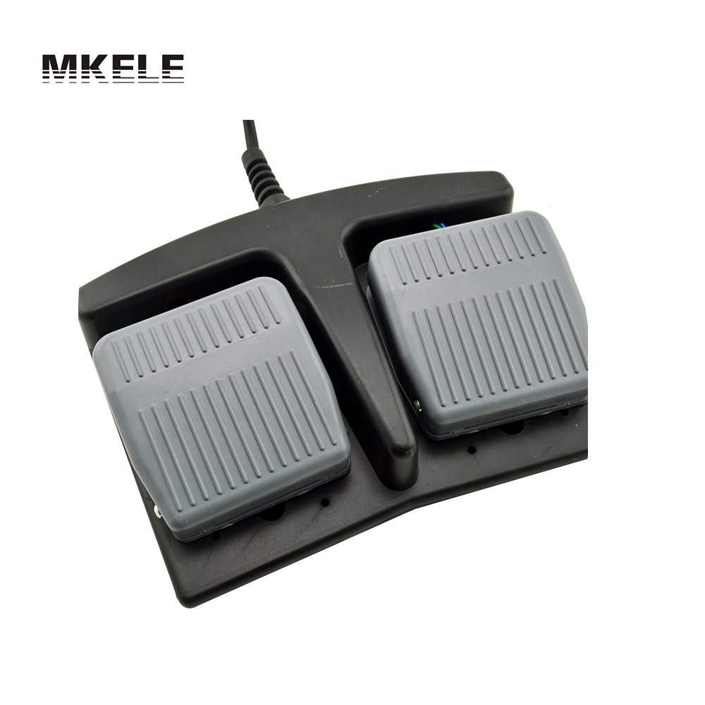 MKLT-203 free shipping CE factory direct price hot sale high efficiency double pedal tattoo machine foot switch from China wholesale price foot control pedal for welding machine