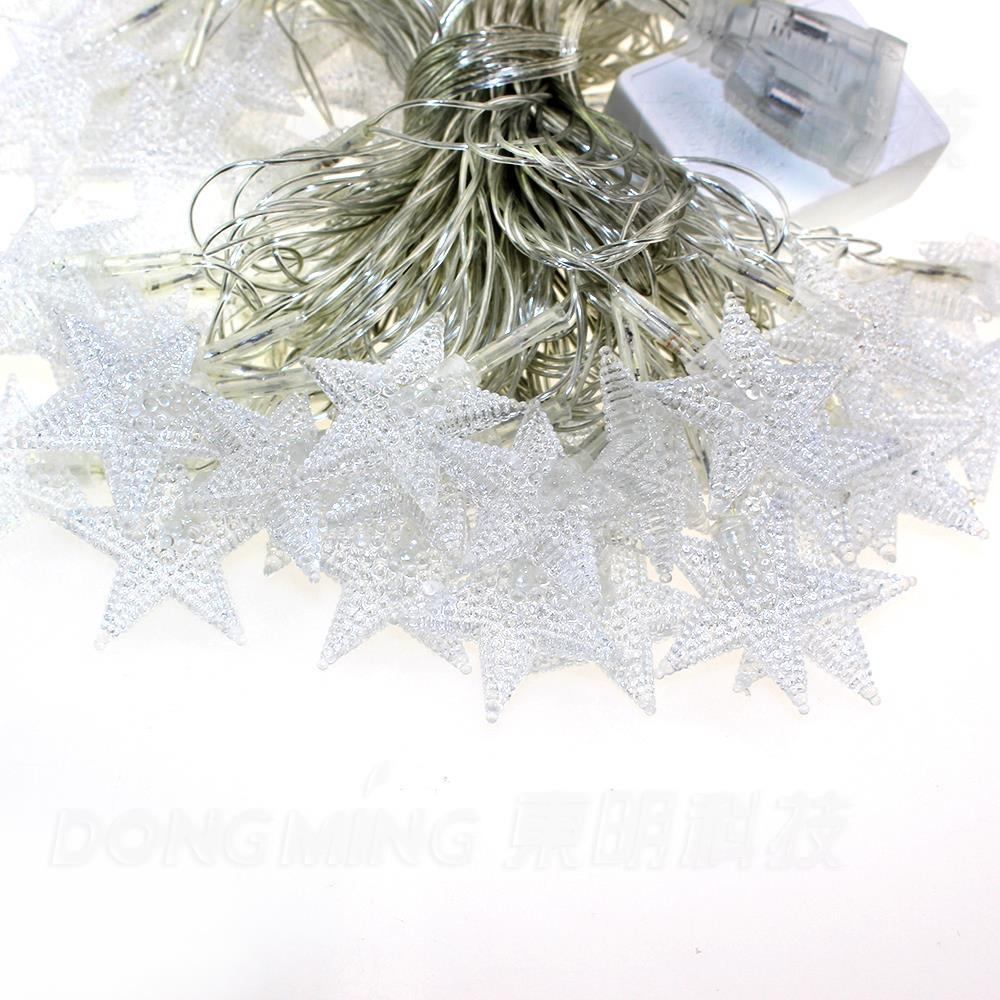 5sets 10meters 70LEDs DC12V waterproof micro LED Christmas star ...