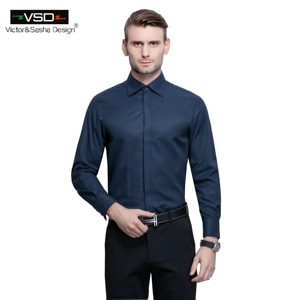 Shirt design for man 2017 - Vsd 2017 New Italian Fashion Slim Fit Soild Men S Office Shirts Long Sleeve Turn Down