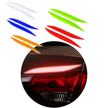2pcs Car Headlight Taillight Fog Light Decal Sticker For BMW E92 E53 X3 f25 E34 Audi A6 C6 A5 B7 Q5 C5 Abarth Ford Fiesta Mondeo image