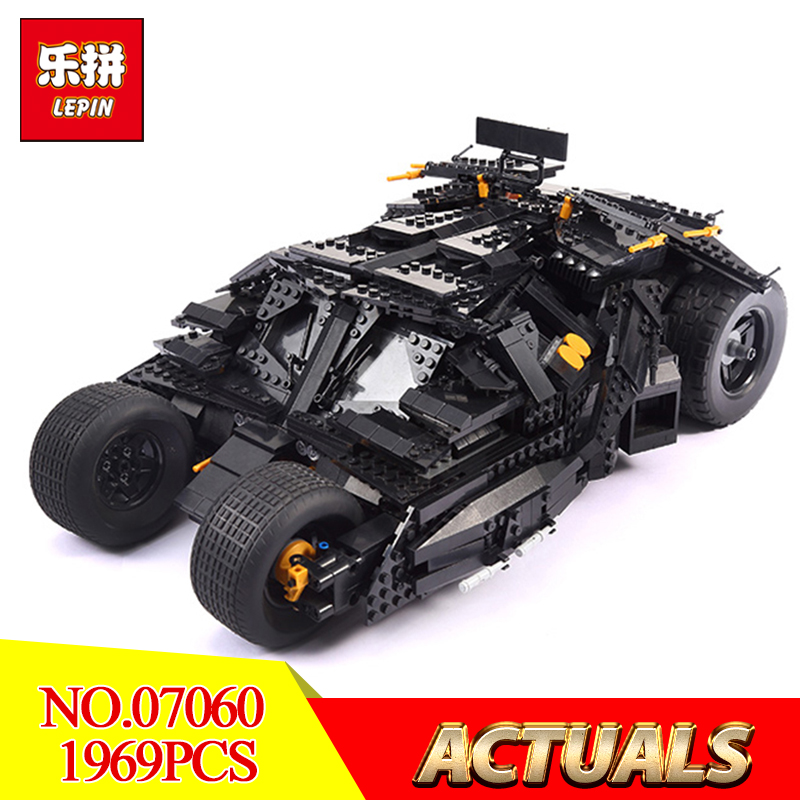 LEPIN 07060 Genuine Super Hero Movie Series 76023 The Batman Armored Chariot Set Educational Building Block Brick Boy Toys Gift hot compatible legoinglys batman marvel super hero movie series building blocks robin war chariot with figures brick toys gift