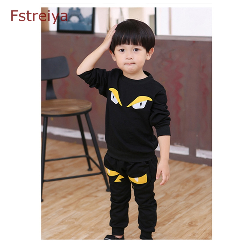 2018 2pcs spring autumn top children clothes set Baby boys monster clothes bobo choses girls sports suit kids cottons clothing