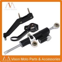CNC Steering Damper Set Stabilizer With Bracket Mounting Assemblly For HONDA CBR954RR CBR 954RR CBR 954 RR 2002 2003 02 03