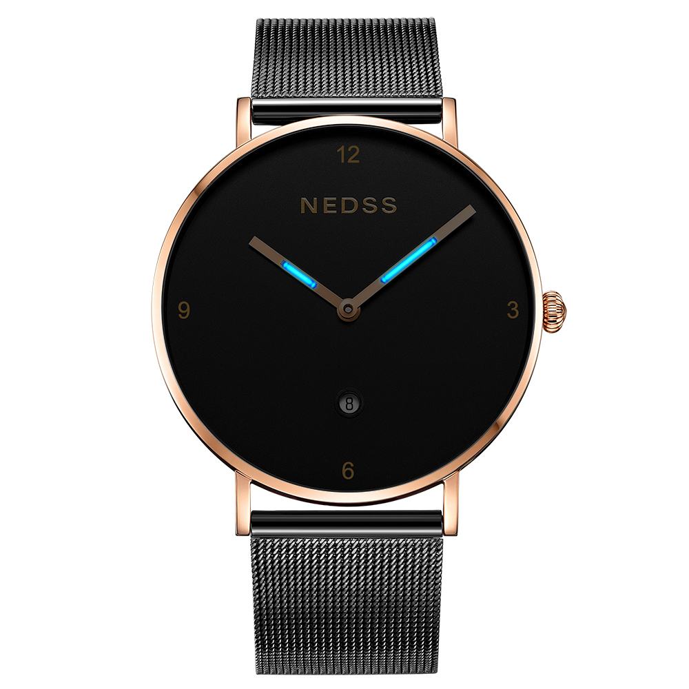 Top Brand Luxury NEDSS Fashion DW Style watch Lovers Watch Relogio Feminino sample steel couple watch sapphire 50M waterproof