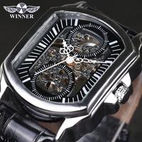 Zwycięzca Vintage Classic projektant srebrny opakowanie ze stali nierdzewnej męskie zegarki Top marka luksusowe automatyczny zegarek mechaniczny zegar mężczyźni w Zegarki mechaniczne od Zegarki na