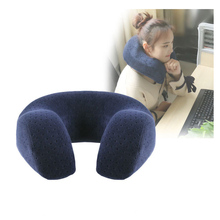 Smelov U-shaped Neck Pillow U Shaped Memory Foam Travel Air Plane Home Pillow Neck Head Support Office Cushion for Men and Women travel pil gel mf langria u shaped memory foam travel neck pillow with cooling gel technology for airplane car train home office napping reading and leisure