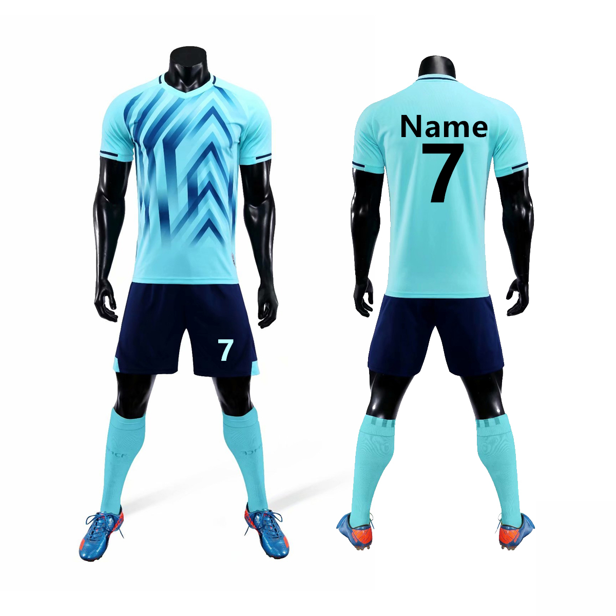 2019 Kids Adult Running Soccer Jersey Kit Uniforms Football Sport Suits Custom