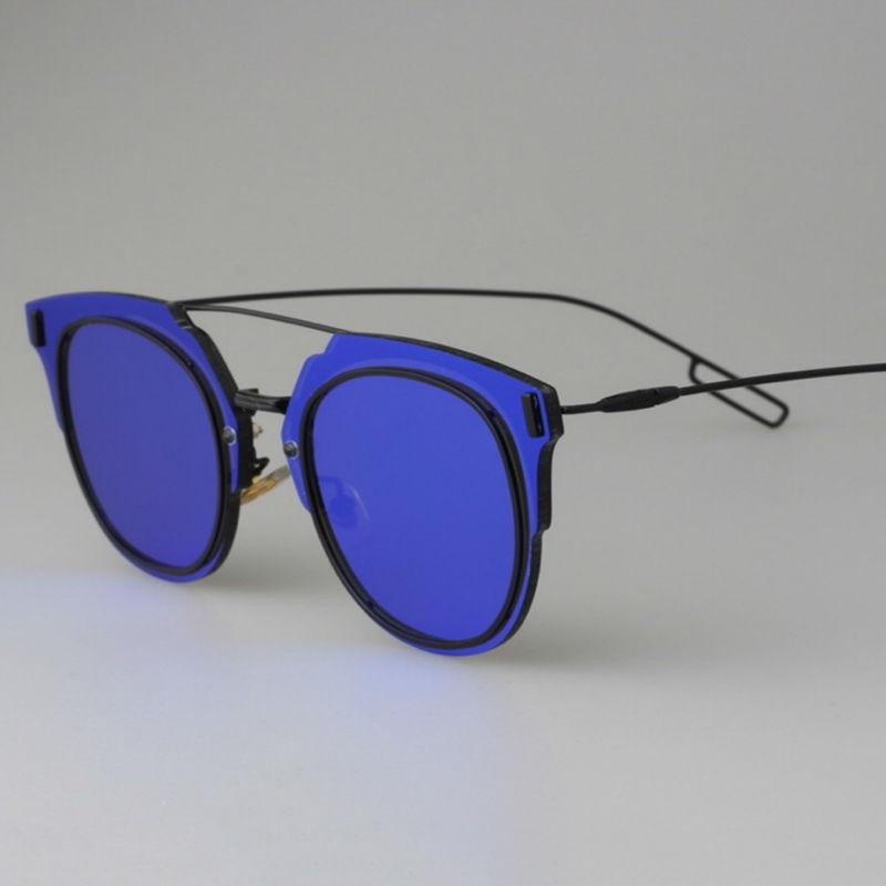 blue designer sunglasses  2015 Newest brand designer sunglasses men composit Flat mirror ...