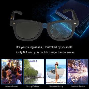 Kacamata Hitam dengan Variabel Elektronik Warna Kontrol Kacamata Pria Terpolarisasi Kacamata untuk Wanita Bepergian Mengemudi Partai Belanja