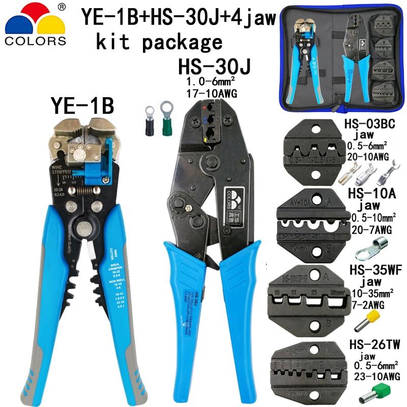 Herzhaft Kit Multifunktionale Ratsche Crimpen Werkzeug Professionelle 0,5-35mm2 Crimpen Zangen Draht Kabelklemmzangen Zangen Hs-30j Elektriker Werkzeuge Handwerkzeuge Werkzeuge