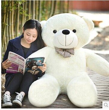 Stuffed animal 47 inch  white Teddy bear plush toy soft doll throw pillow gift w1677 stuffed animal cute yellow banana plush toy 130cm doll cushion throw pillow about 51 inch toy p0169
