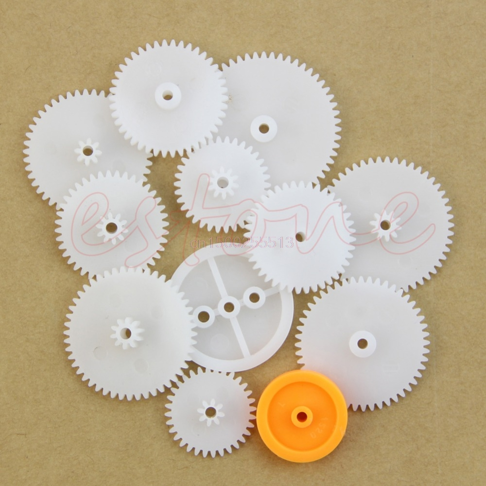 75 Kinds Plastic Shaft Single Double Reduction Crown Worm Gear Kit For Robot DIY