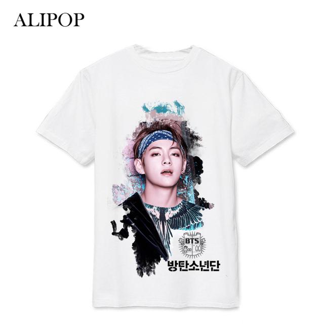 BTS Graphic T-Shirts Tee Shortsleeve Jungkook Suga Rap Monster Jimin Jin V J-Hope