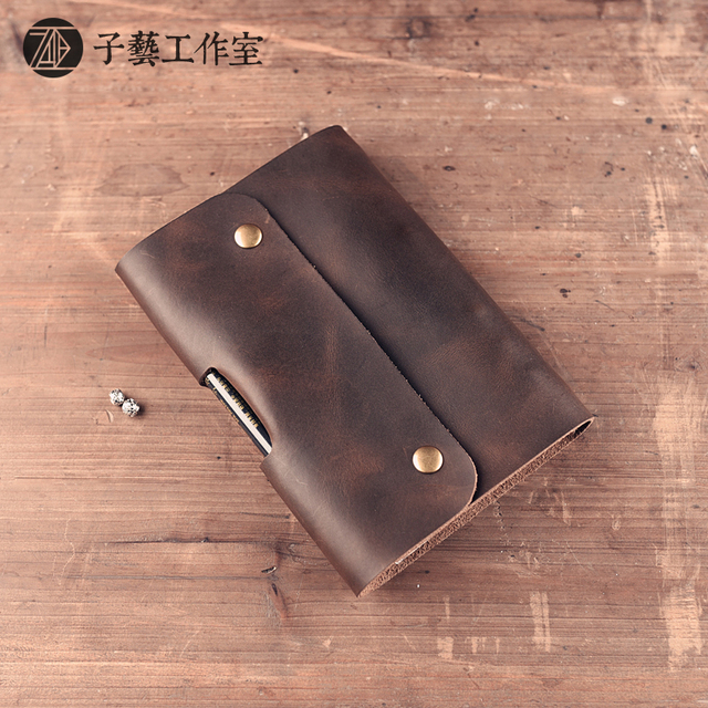 Handmade leather goods leather traveler A6 notebook diary retro Notepad leather gift sheet