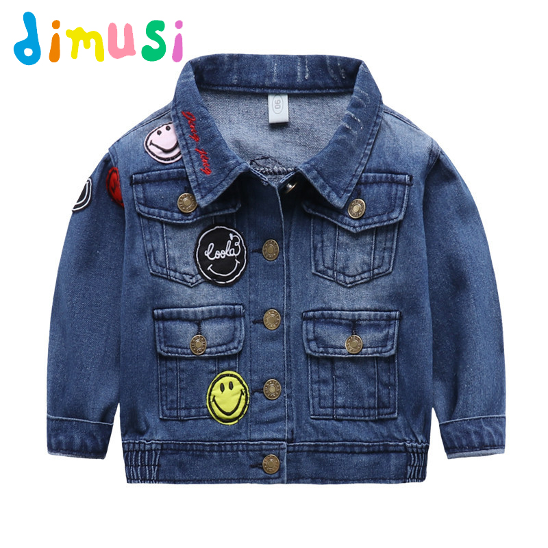 DIMUSI autumn Boys Denim jacket For children spring kids Motor Jacket windbreak patchwor ...