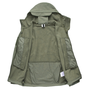 Image 5 - Shark Skin Military Jacket Men Softshell Waterpoof Camo Clothes Tactical Camouflage Army Hoody Jacket Male Winter Coat