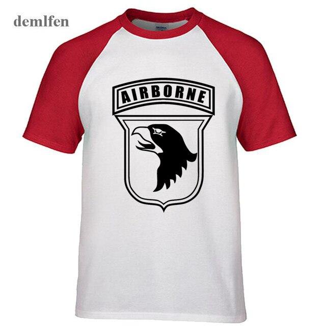 101st Airborne Schablone T shirts Männer Neuheit Raglanärmel T shirt ...