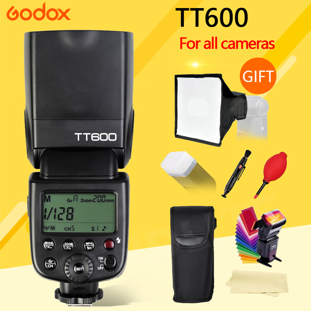 Godox Thinklite TT600 Flash Speedlite for Canon Nikon Sony Pentax Olympus Fujifilm & Built-in 2.4G Wireless Trigger System GN60 godox thinklite tt600 flash speedlite for canon nikon pentax olympus fujifilm with a built in 2 4 g wireless trigger system gn60