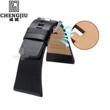 Men's Genuine Leather Watchbands For Diesel DZ1405 Calfskin Leather Wat