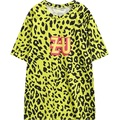 2016 new womens t-shirt leopard print graphic short sleeve HARAJUKU tee top for woman ladies loose tshirt stylish yellow T Shirt
