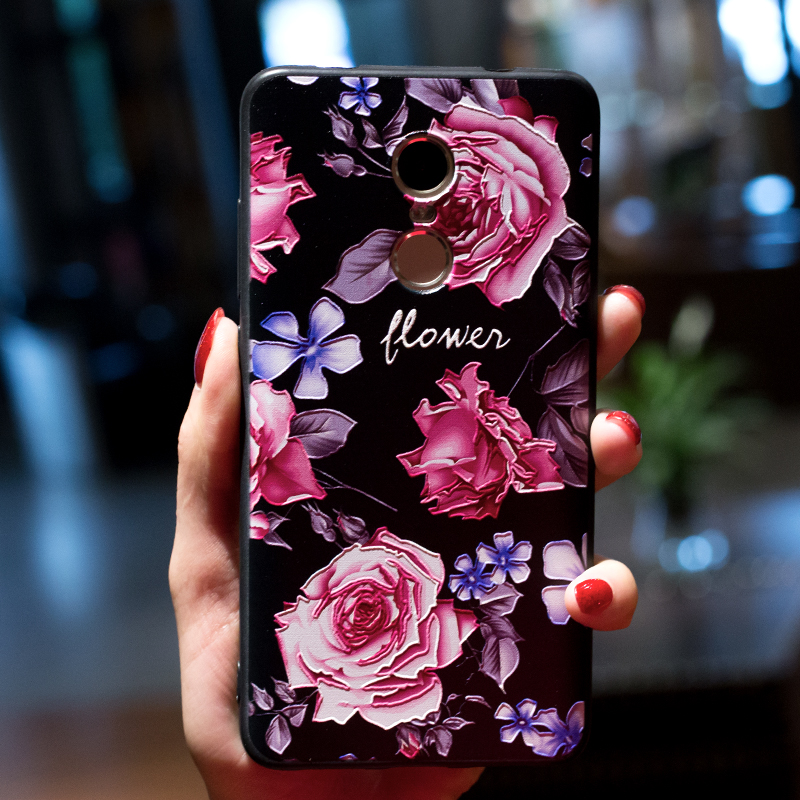 3D Relief Pretty Flower Patterned TPU Case For Xiaomi Redmi