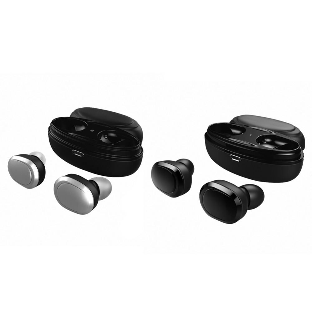 T12 Bluetooth Earphone <font><b>TWS</b></font> True Stereo Wireless Earbuds Mini Stereo Music Earphone Hands-free With Mic Charging Box for Phones image