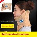 Genuino jmron cuello facilidad collarneck aire tracción cervical cuidado vértebra cervical neck brace dolor dispositivo de terapia de liberación