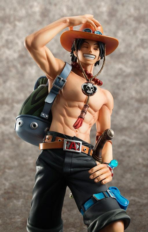 ONE PIECE Portgas D Ace Action Figure 23cm PVC Scale Model Hot Kid Toy 2015 New Year Decoration Japanese Anime image