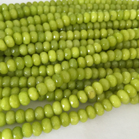 Free Shipping New 2014 Fashion 5x8mm Faceted Green Peridot Roundel Loose Beads Gemstone Strand 15 BV07