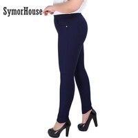 Women Pencil Pants 2016 Spring Autumn Plus Size 2XL 6XL High Waist Women Full Length Skinny